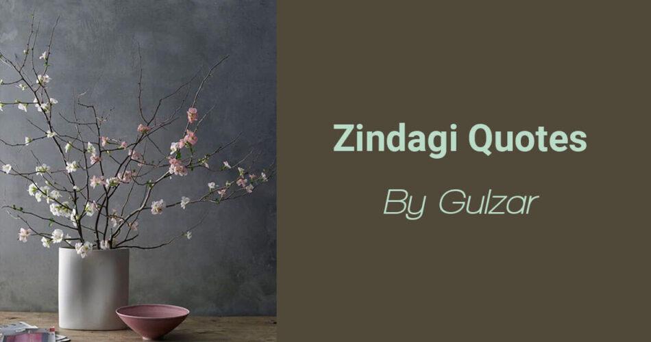 Zindagi Quotes by Gulzar   Shayar Ki Kalam Se